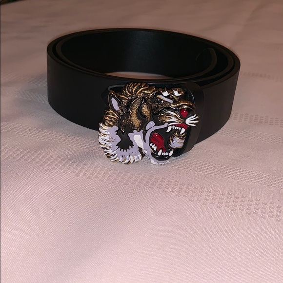8c5275d16b5 Gucci Other - Gucci Leather belt with tiger buckle